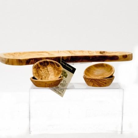 Schaaltje van olijfhout 8 cm