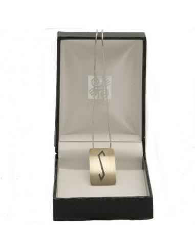 Zilveren hanger met ketting